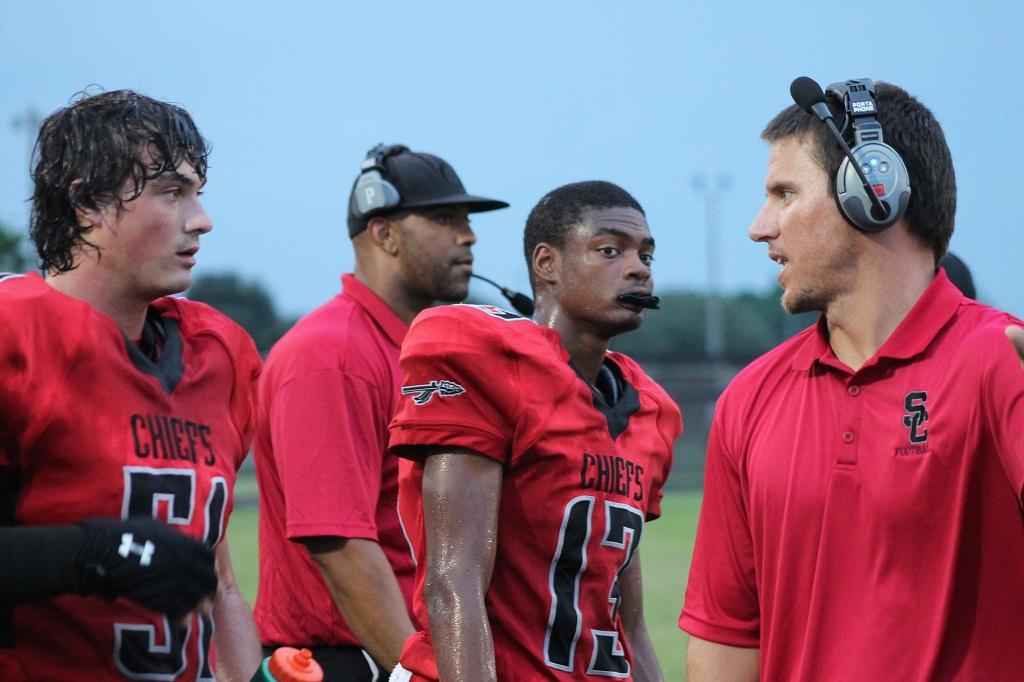 Khurazze+Williams+%2813%29+caught+six+passes+for+121+yards+and+three+touchdowns+in+a+49-21+victory+over+Jupiter
