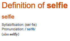 Oxford's Word of the Year: Selfie