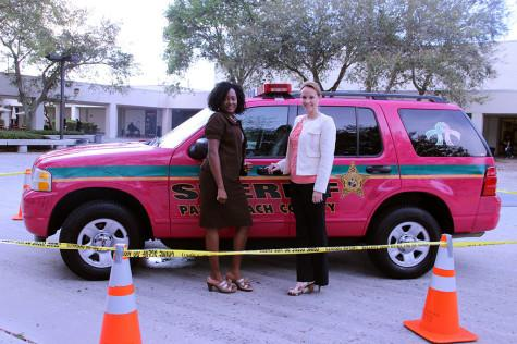 Palm Beach County Sheriff's department has displayed a hot pink car in the center of our court yard in honor of Anti-Bullying week.