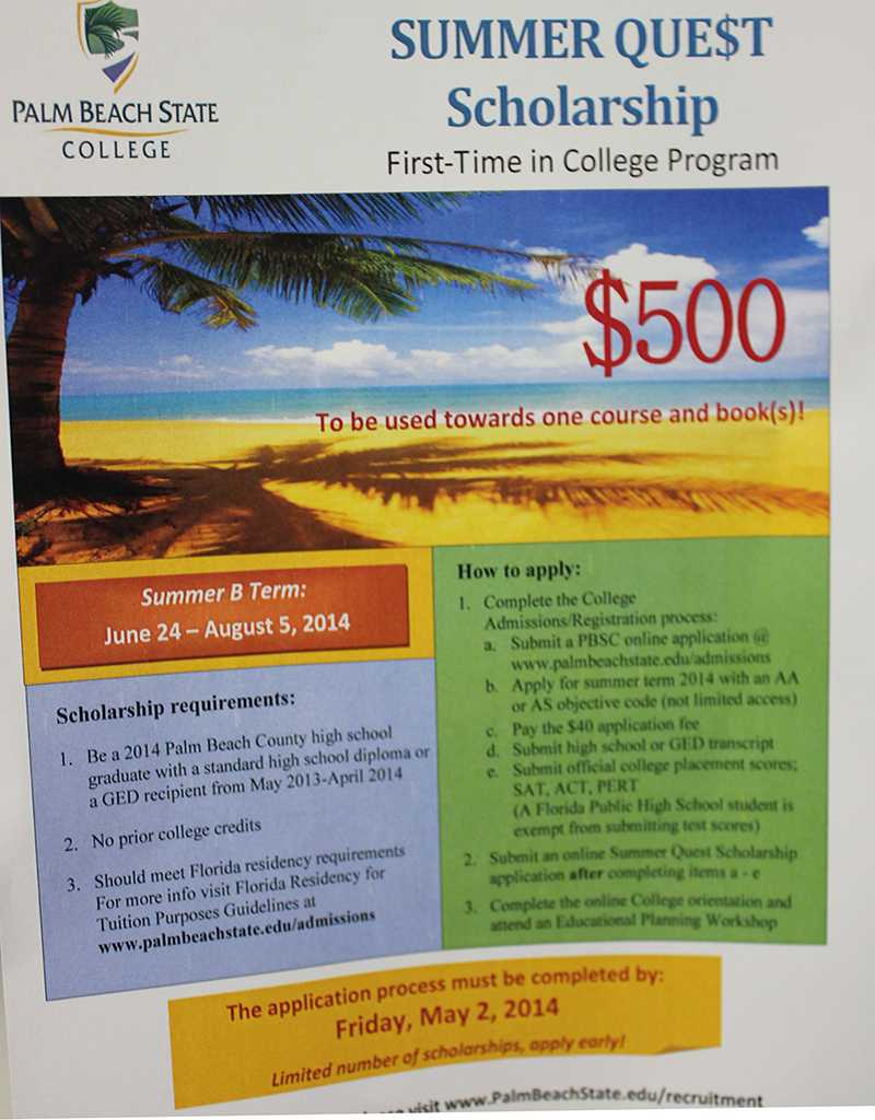 Scholarship Opportunity at PBSC