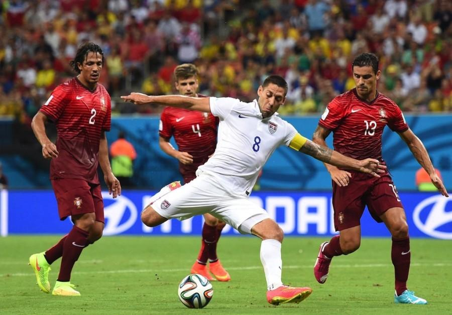 Clint+Dempsey+of+the+U.S.+shoots+the+ball+against+Portugal+during+the+FIFA+World+Cup+at+the+Arena+Amazonia+Stadium+in+Manaus%2C+Brazil%2C+on+June+22%2C+2014.+%28Liu+Dawei%2FXinhua%2FZuma+Press%2FMCT%29