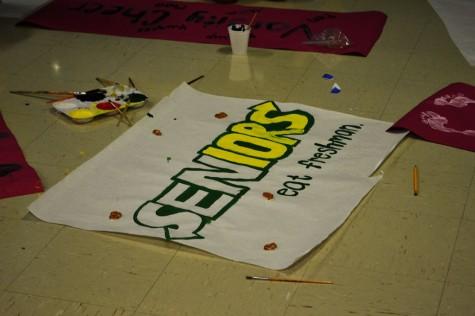 "Seniors create a playfull twist on the ""Subway, Eat Fresh"" slogan."