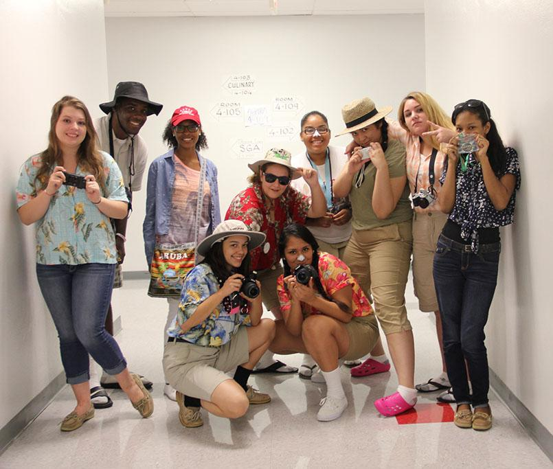 bfc10b545de0c The Tribe staff celebrates spirit week by dressing up as tacky tourists.