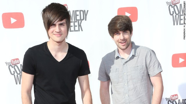 YouTubers Anthony Padilla and Ian Hecox, who make up the channel Smosh.