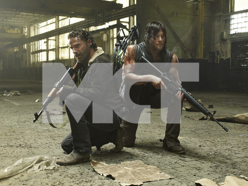 Rick and Daryl bear arms in order to escape Terminus.