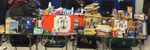 Items such as these, donated to the Food for Families organization, will no longer count toward community service hours.