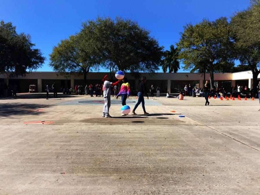 Hunger Games obstacle course during lunch