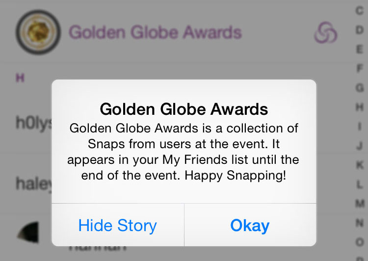Watching+the+Golden+Globes...+Through+Snapchat