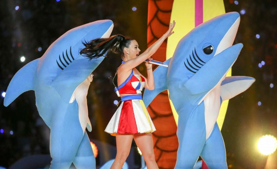Katy Perry Touches Down at Halftime