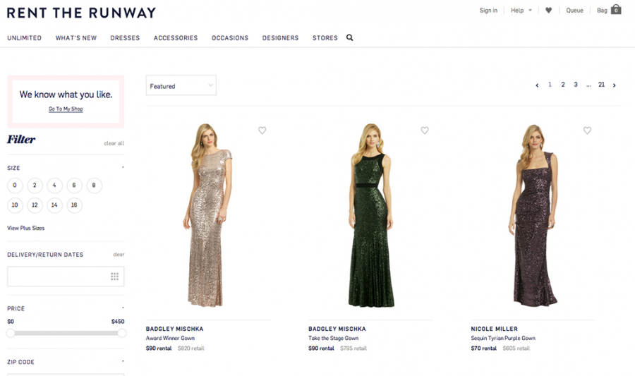 Rent the Runway is a Prom Phenomenon