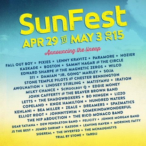 Sunfest 2015 Lineup Has Been Released
