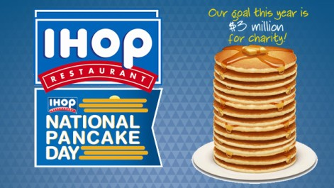 IHOP Celebrates Free Pancake Day