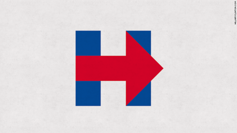 Hillary Clinton's 2016 campaign logo.   (CNN)