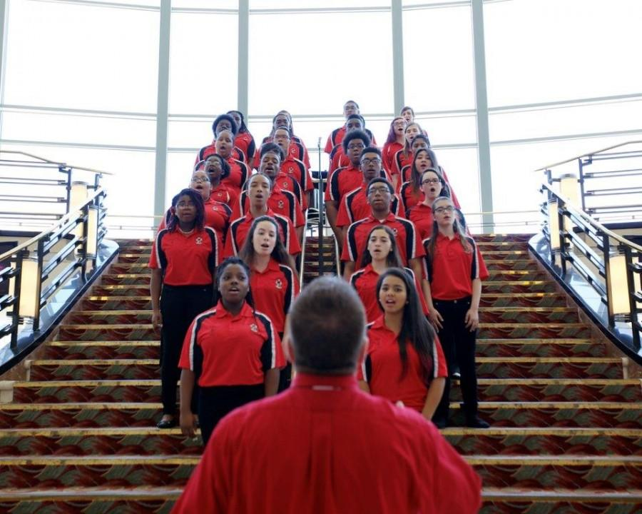 The Santaluces Reflections Chorus performs at the Kravis Center in April.