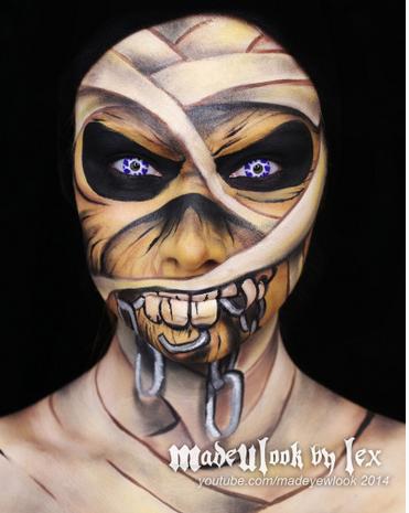 Eddie Iron Maiden Make-Up madeulookbylex.com