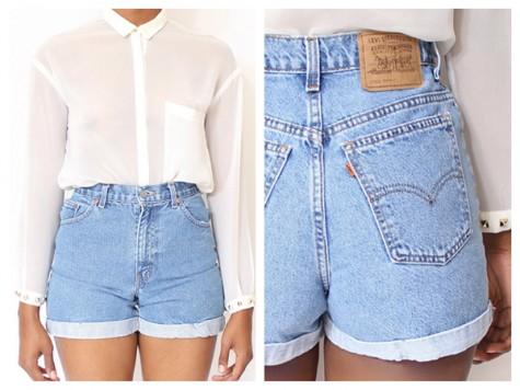 High waist pants made into cute shorts