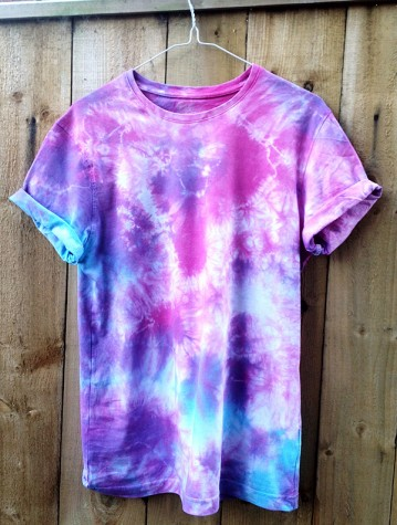 Super stylish homemade tie-dye shirt