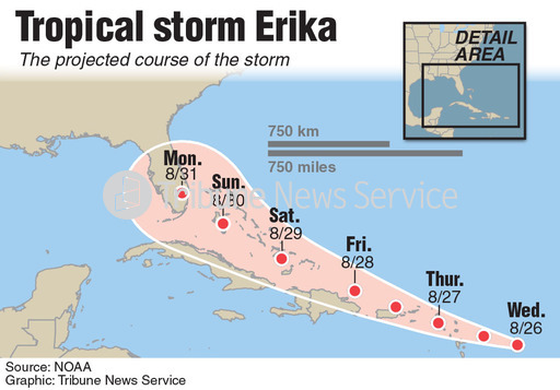 Tropical Storm Erika May Be On the Way