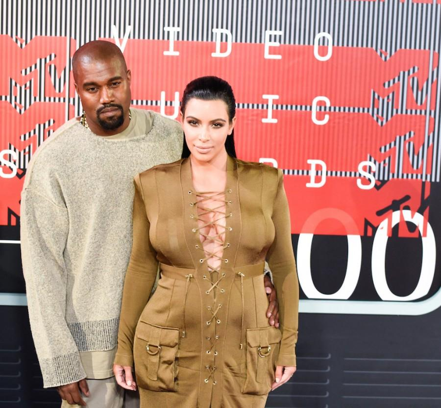 Kanye West and Kim Kardashian West walk the red carpet outside the 2015 MTV Video Music Awards at Microsoft Theatre on Aug. 30, 2015 in Los Angeles. While accepting the Video Vanguard Award, West announced that he will run for president in 2020. (Owen Kolasinski/BFA/Sipa USA/TNS)