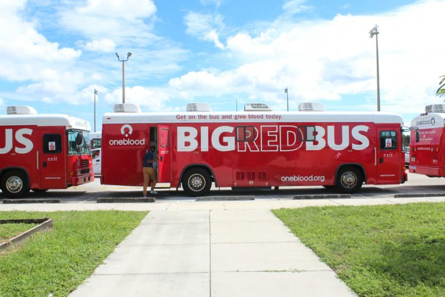 Hundreds of chiefs helped out by donating blood to those in need via OneBlood's Big Red Bus.