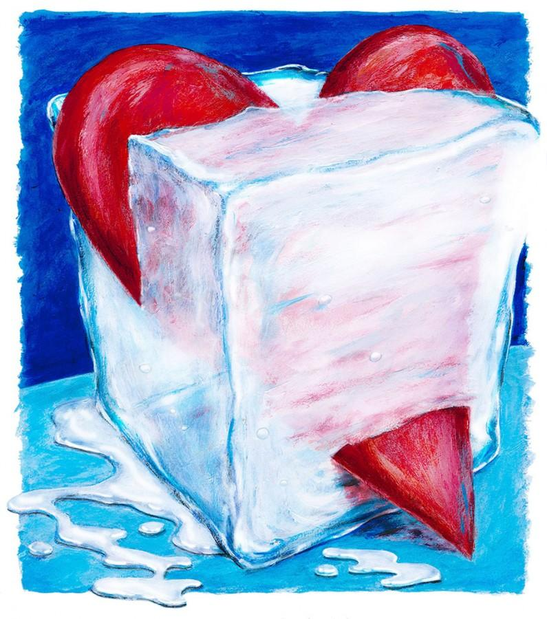 300 dpi Eddie Thomas illustration related to cold weather in February and Valentine's Day. (Minneapolis Star Tribune/MCT)