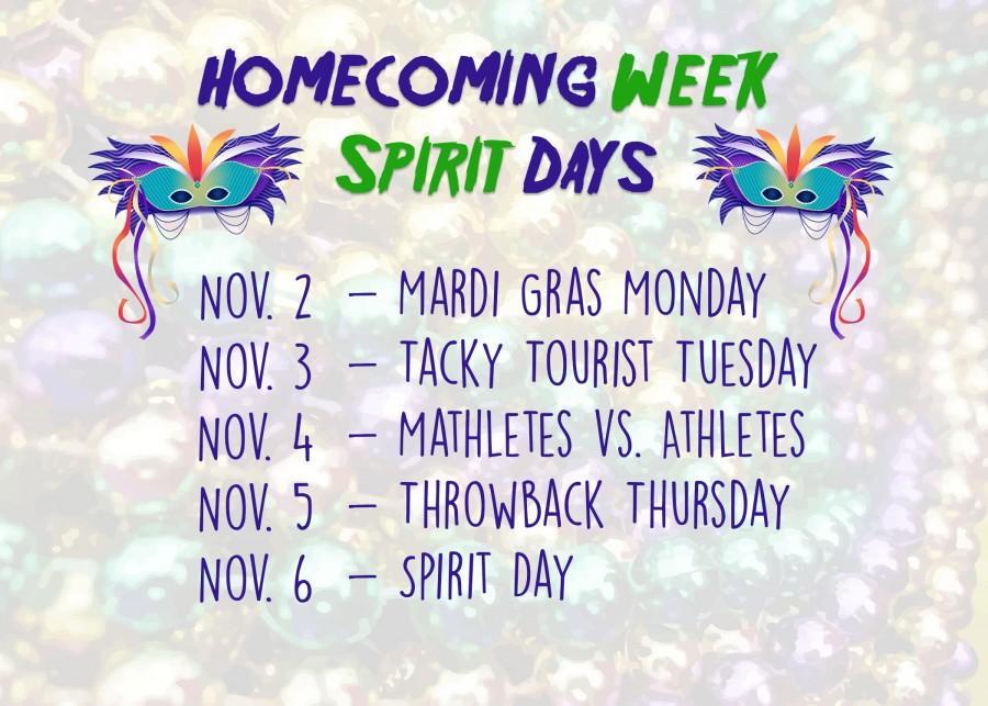 Spirit Week Days Announced