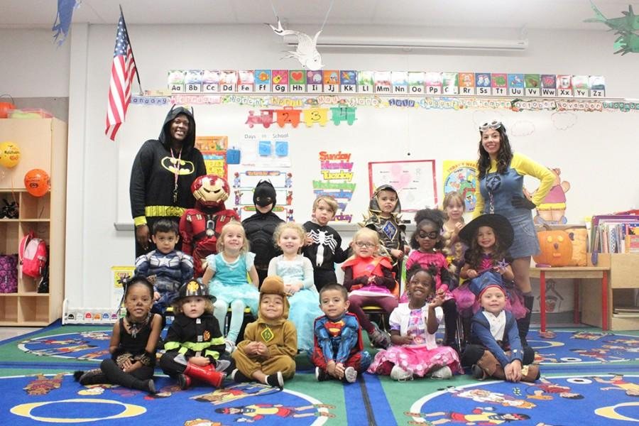 A class photo of the little chiefs, along with Ms. Ashley and Ms. Camila.