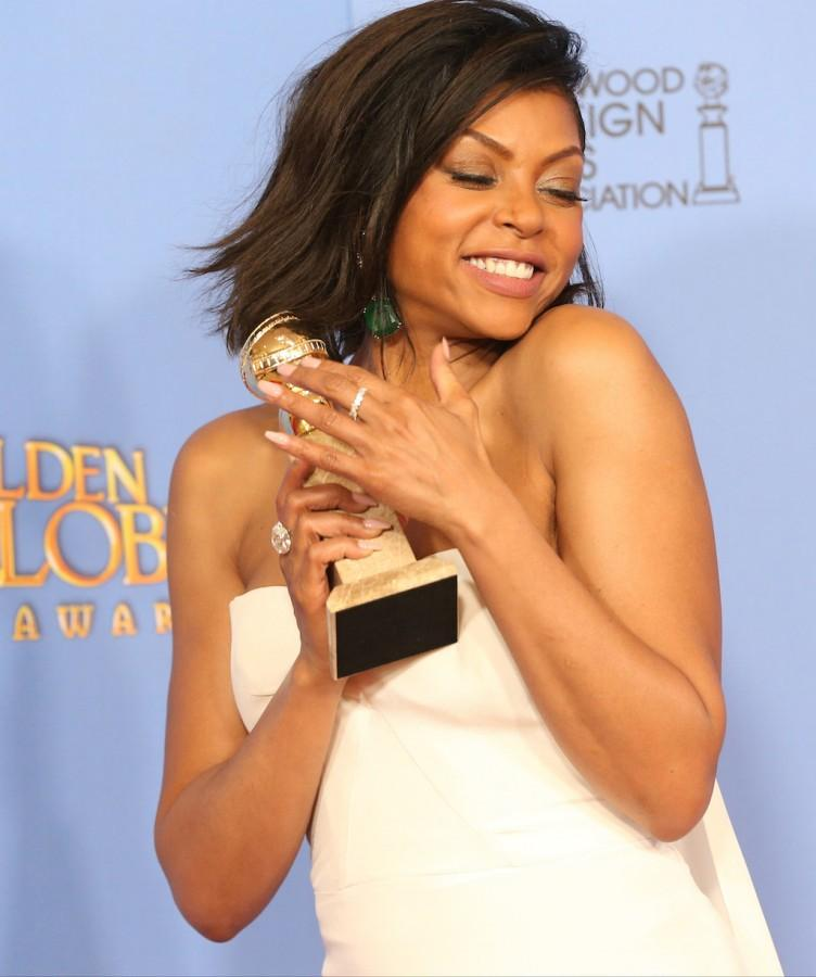 Taraji P. Henson backstage at the 73rd Annual Golden Globe Awards show at the Beverly Hilton Hotel in Beverly Hills, Calif., on Sunday, Jan. 10, 2016. (Allen J. Schaben/Los Angeles Times/TNS)