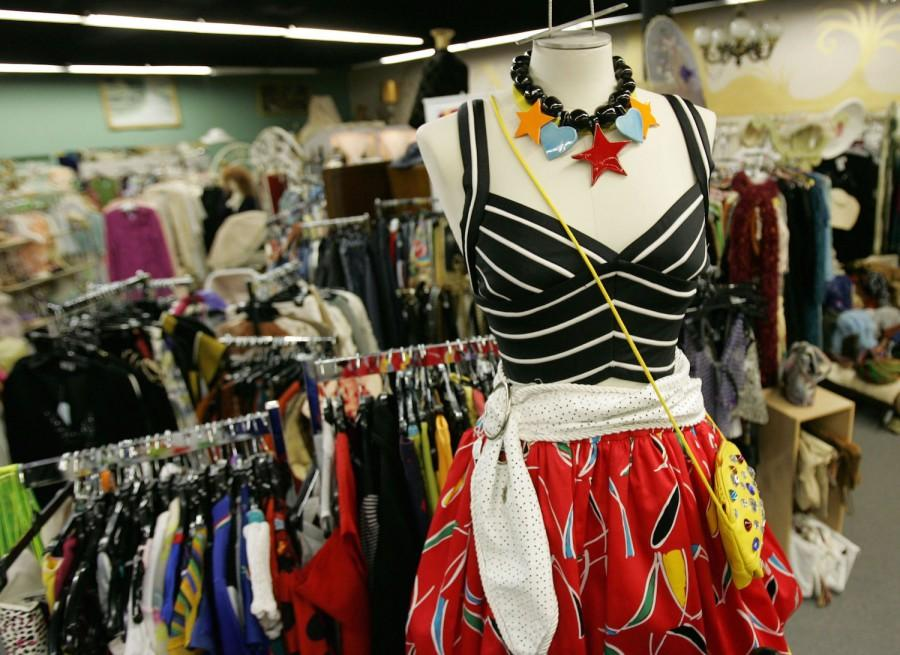 An outfit displays 80's wear, a balloon skirt, corset top, ceramic necklace, at Madeleine Kirsh's 10,000 square feet fashion fantasyland Tuesday, Sep. 26, 2006 in North Miami Beach, Florida. (Staff photo/Omar Vega)