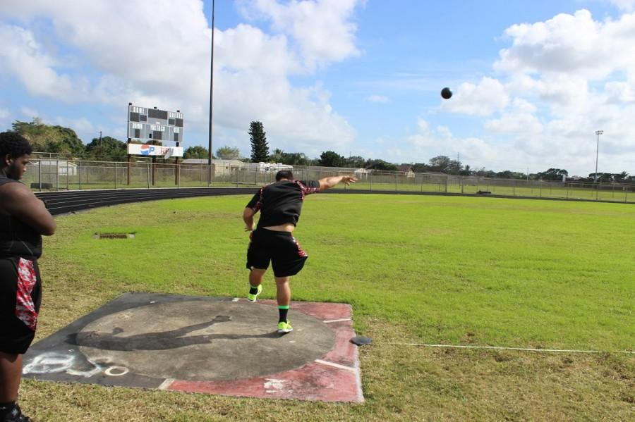 Photo of the Day: Pendergrass Practices Shot Put