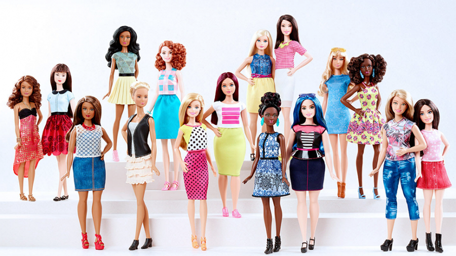 Mattel+introduced+a+new+line+of+Barbie+dolls+that+represent+real+body+types.+