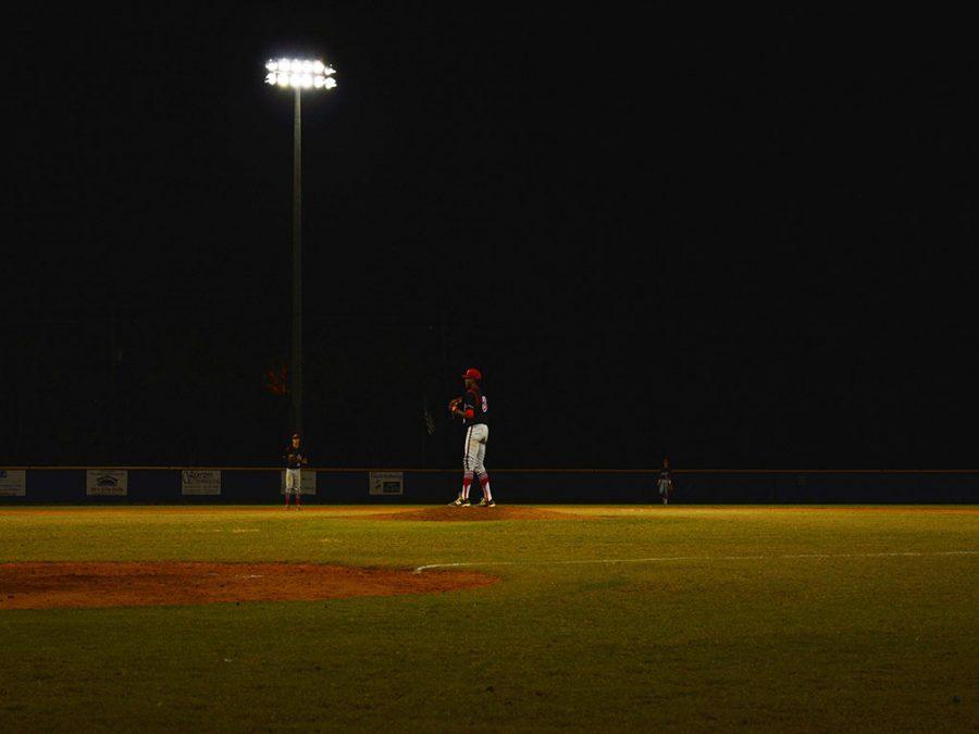 Junior Malik Lissone on the mound against the Park Vista Cobras. 04/21/16
