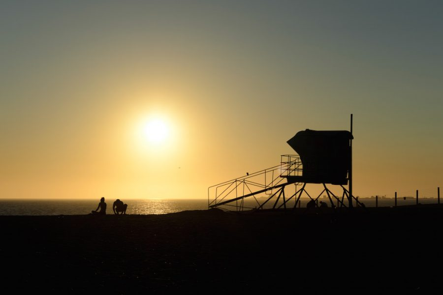 Lifeguard stand, Point Mugu, California.