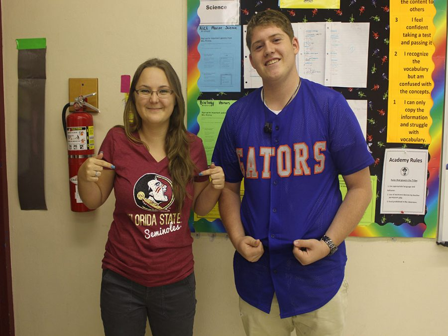 Santaluces Chiefs show their pride on College Shirt Day.
