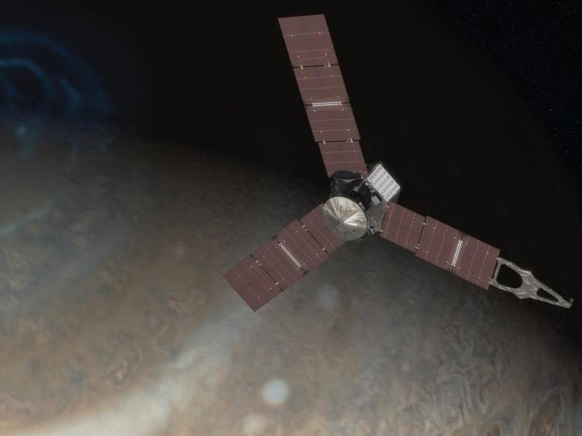 Juno Above Jupiter's Pole (Artist's Concept)