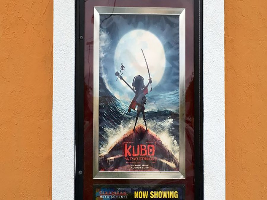 Kubo+and+the+Two+Strings+film+poster+outside+of+the+Cinemark+14+theatre.