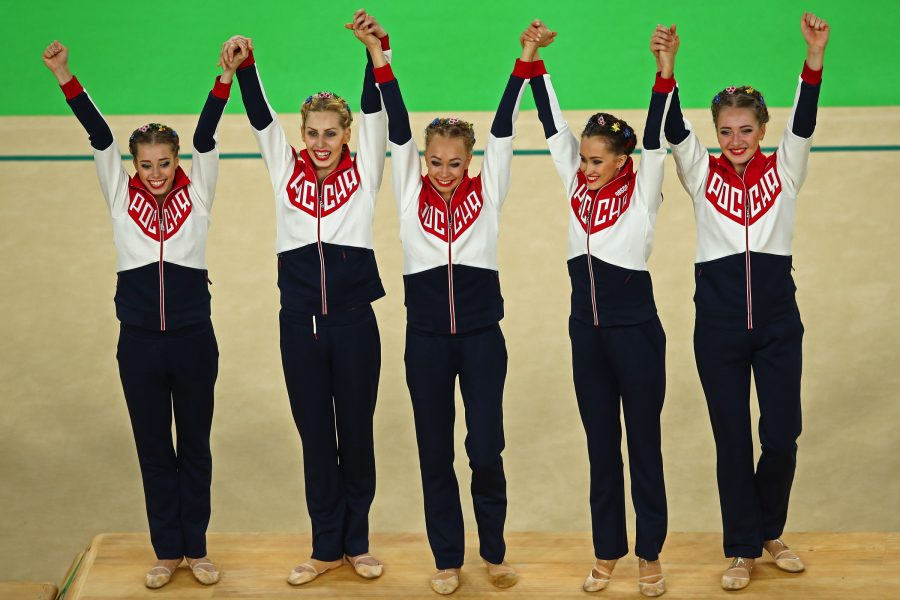 The+Russian+women%27s+gymnastics+team