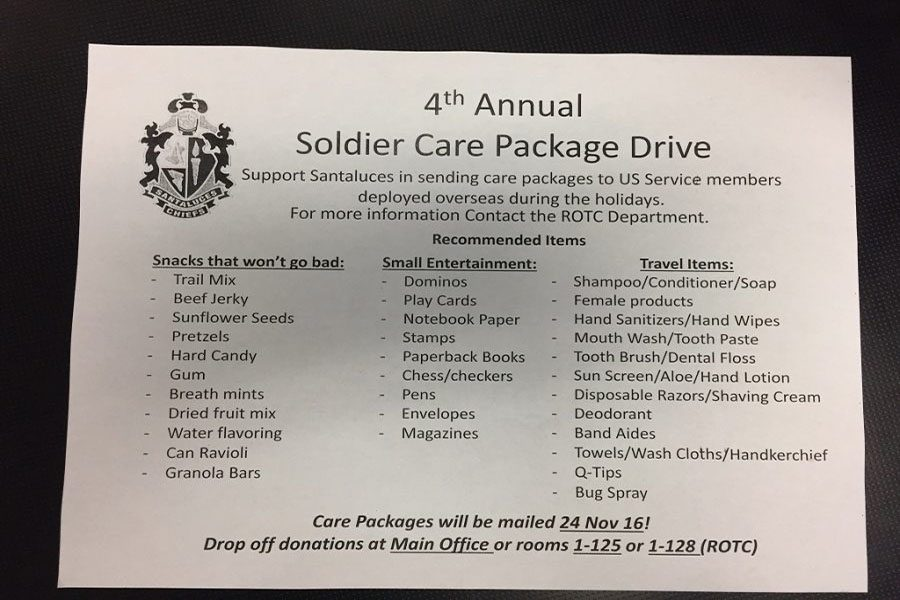 4th Annual Soldier Care Package Drive