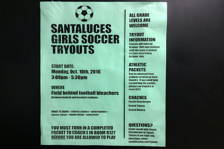 Photo of the Day: Girls Soccer Tryouts