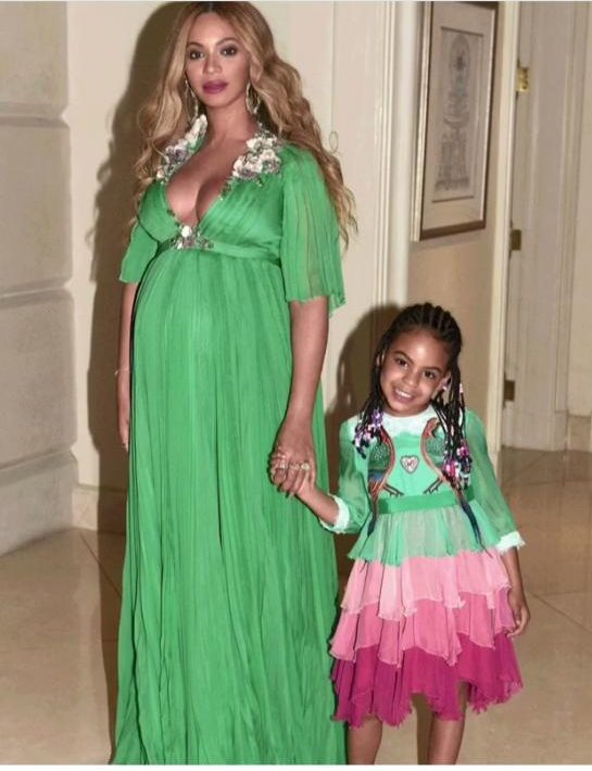 42c34fa5644 Blue Ivy Carter seen here sporting a custom off the runway design by Gucci  ( 2