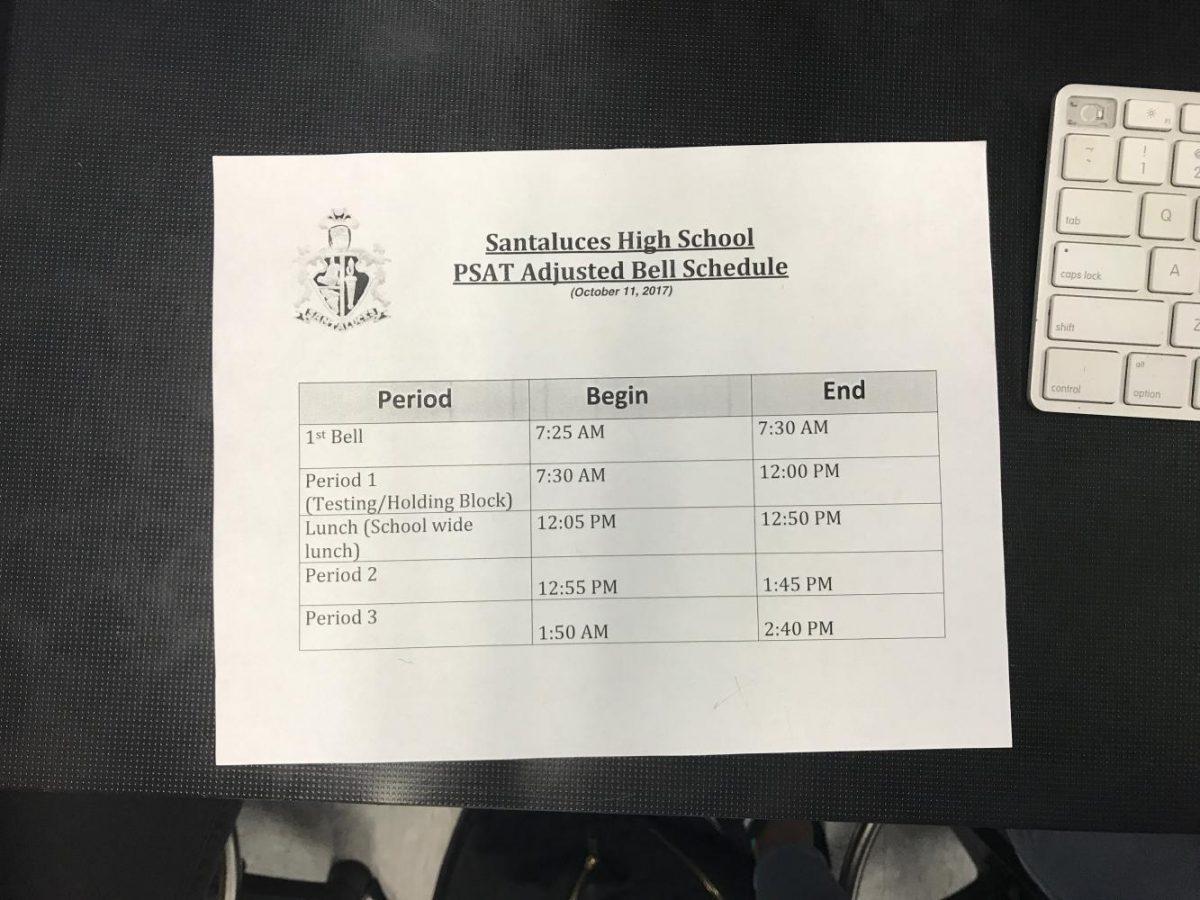 PSAT+Bell+Schedule