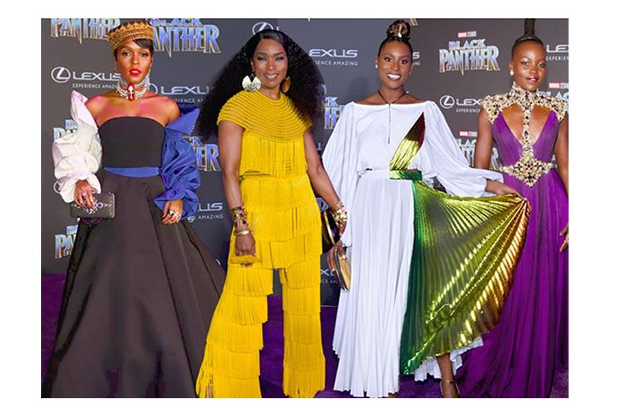 Royal Looks At The Black Panther Premiere