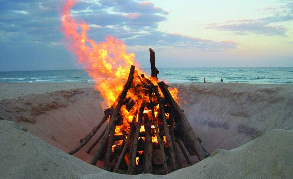 Lake Worth Beach Bonfire