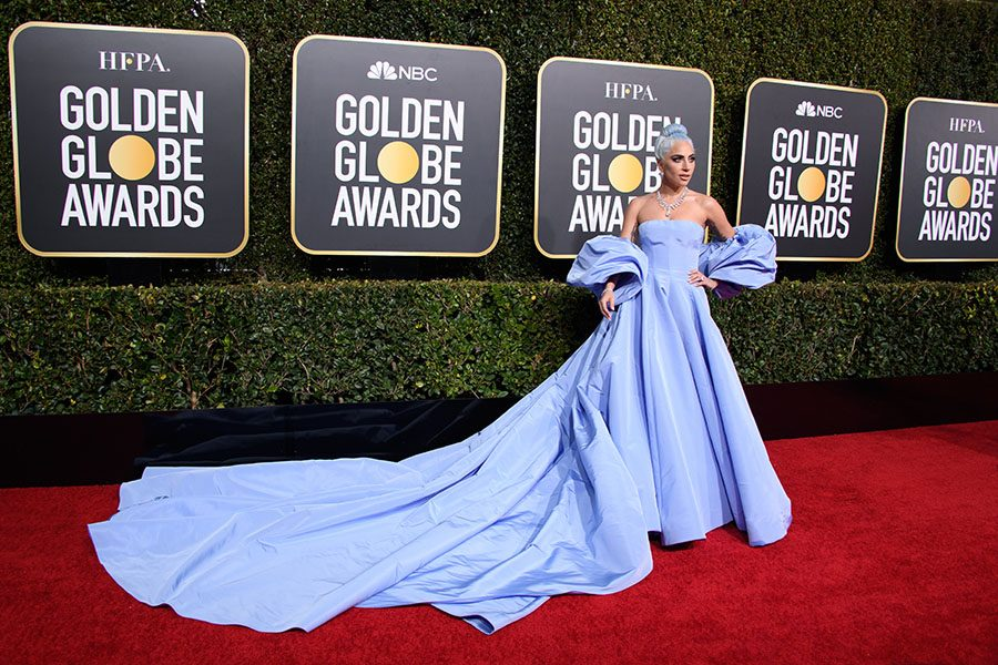 Golden Globe nominee Lady Gaga attends the 76th Annual Golden Globe Awards at the Beverly Hilton in Beverly Hills, CA on Sunday, January 6, 2019.