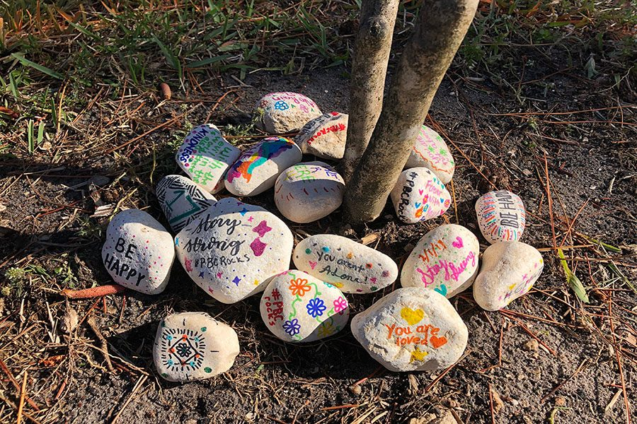 17 rocks to commemorate the 17 lives lost.