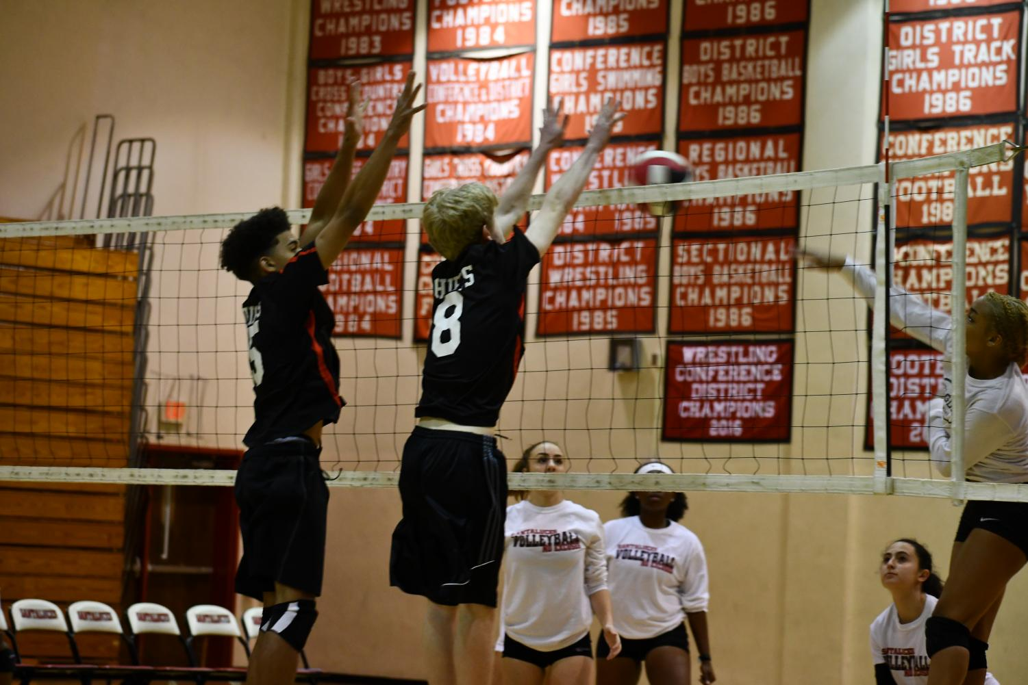 A block against the girls.