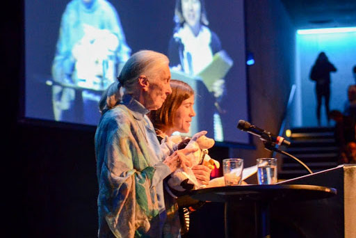 Jane Goodall and Kate Detwiler at FAU