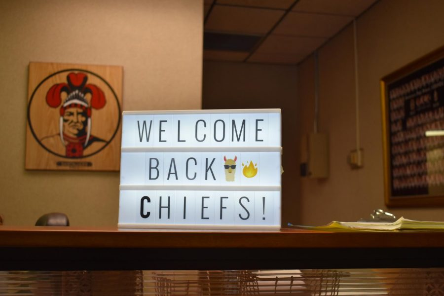 The main office welcomes back Santaluces Chiefs!