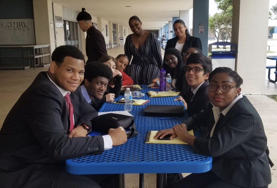 The whole debate team together after a long day of debating.