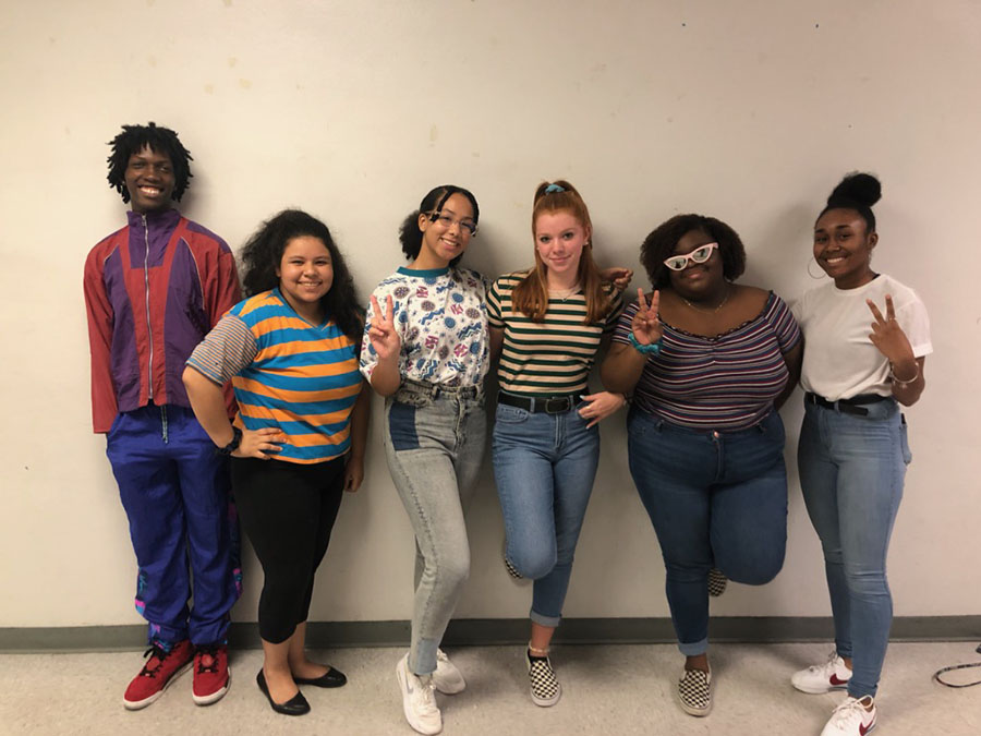 Student Government members dressing up for the 90s.